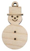 Laser Engraved Snowman Christmas Tree Ornament