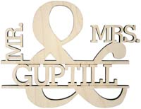 Wedding Cake Topper - Mr & Mrs - Laser Cut Last Name