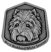 W Highland white terrier magnet