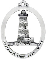 Whaleback Lighthouse Christmas Ornament