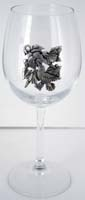 Wine Glass Hummingbird Bowl