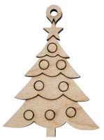 Laser Engraved Natural Birch Christmas Tree Natural Birch Christmas Tree Ornament