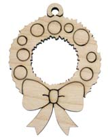 Laser Engraved Christmas Wreath Christmas Tree Ornament