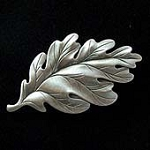 White Oak Tree Leaf Fridge Magnet