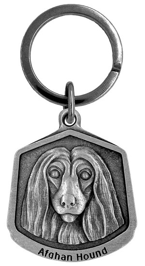 Afghan Hound Keychain - Front