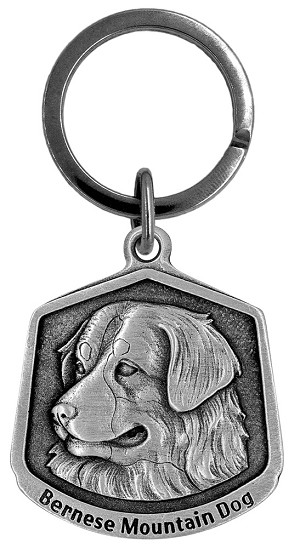 Bernese mountain dog Keychain - Front
