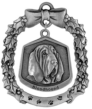 Bloodhound Christmas Ornament - Front