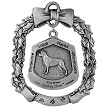 Bullmastiff Christmas Ornament - Back