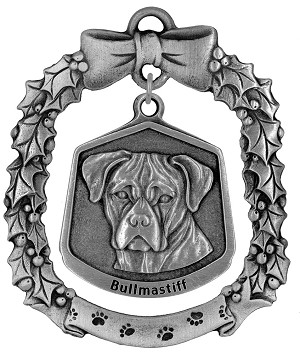 Bullmastiff Christmas Ornament - Front