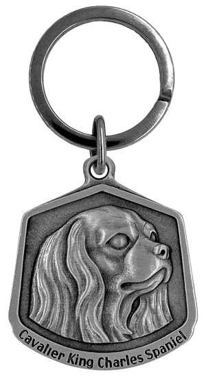 Cavalier King Charles spaniel Keychain - Front