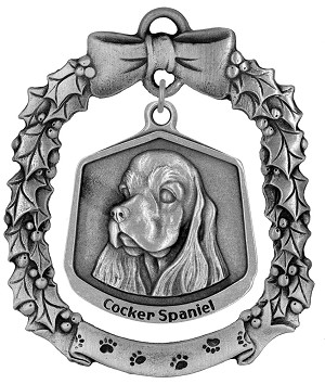 Cocker spaniel Christmas Ornament - Front