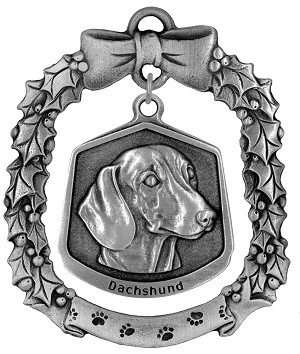 Dachshund Christmas Ornament - Front
