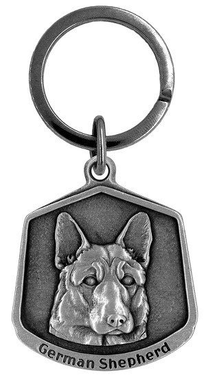 German shepherd Keychain - Front