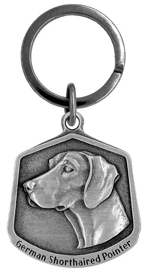 German shorthaired pointer Keychain - Front
