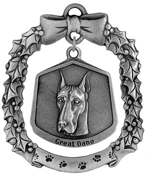 Great Dane Christmas Ornament - Front