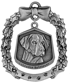 Labrador retriever Christmas Ornament - Front