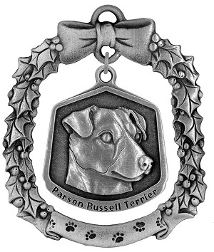 Parson Russell terrier Christmas Ornament - Front