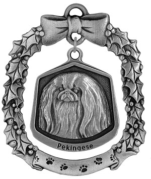 Pekingese Christmas Ornament - Front