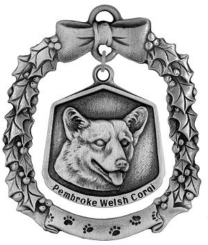 Pembroke Welsh corgi Christmas Ornament - Front