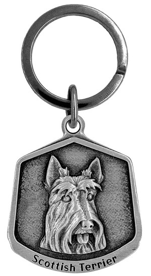 Scottish terrier Keychain - Front