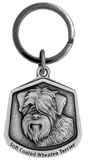 Soft Coated Wheaten Keychain - Front