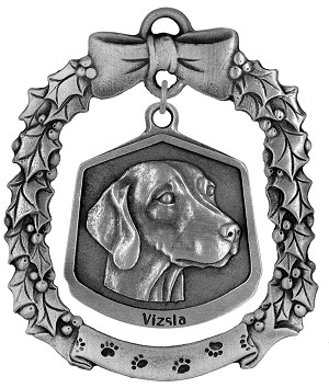 Vizsla Christmas Ornament - Front