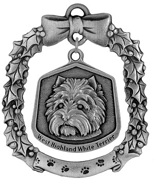 W Highland white terrier Christmas Ornament - Front