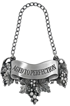 Aged to perfection Liquor Label with Chain