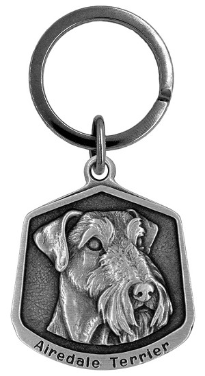 Airedale Terrier Keychain - Front