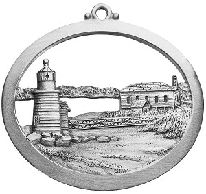 Front of Brant Point Lighthouse Ornament