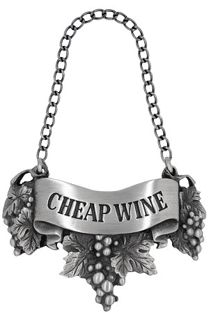 Cheap wine Liquor Label with Chain