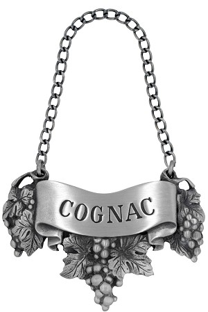 Cognac Liquor Label with Chain