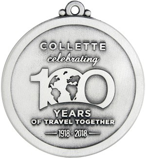 Collette Travel Group 100th Anniversary Ornament