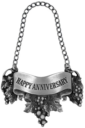 Happy Anniversary Liquor Label with Chain