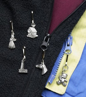 A Charmed Zipper Pull