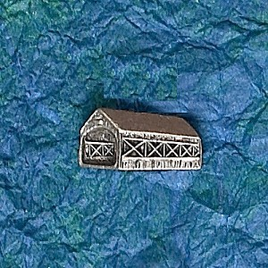 Covered Bridge Hat Bag Lapel Pin
