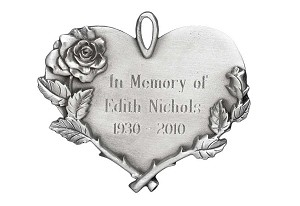 Engravable Heart Ornament-Long Stem Rose