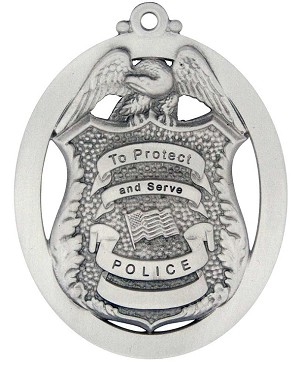 Front of Police Ornament