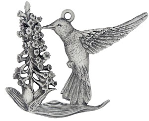 Front of Hummingbird Christmas Ornament