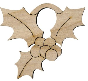 Ornament in Natural Birch Wood