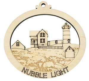 Laser Engraved Nubble Light Christmas Tree Ornament
