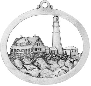 Front of Portland Headlight Ornament