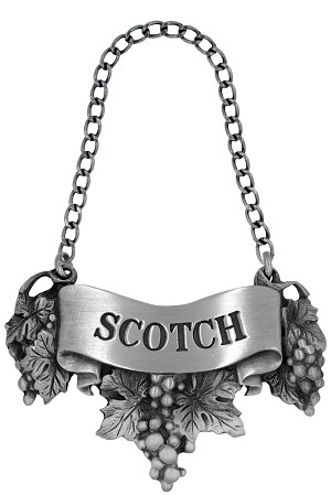 Scotch Liquor Label with Chain