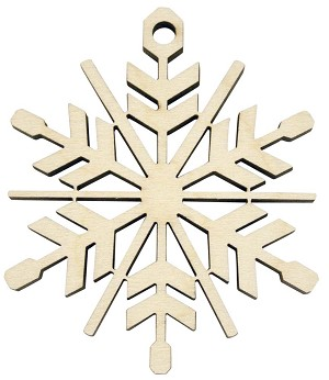 Laser Engraved Snowflake Christmas Tree Ornament