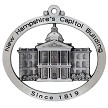 Front of NH State Capitol Building Christmas Ornament