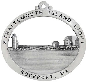 Straitsmouth Island Lighthouse Christmas Ornament