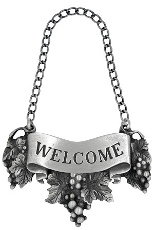Welcome Liquor Label with Chain
