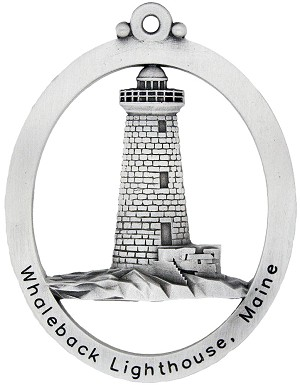 Whaleback Lighthouse Ornament - Front